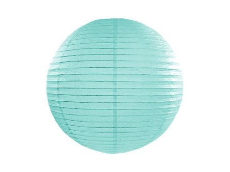 Lampion papierowy, tiffany blue, 25cm