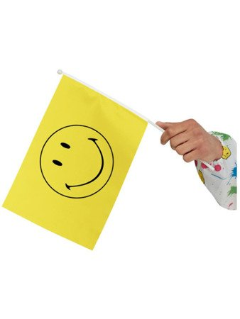 Smiley Small Handheld Flags, Yellow