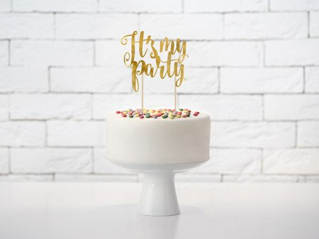 Topper na tort It's my party, 20,5cm (1 karton / 50 op.)